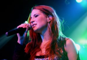 Singer Charlotte Wessels from the Dutch gothic...