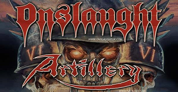 Onslaught + Artillery – UK/IRE tour in July