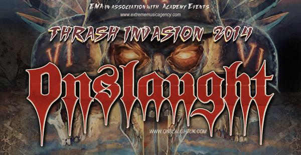 Onslaught + Artillery + Hatriot UK/EU tour 2014