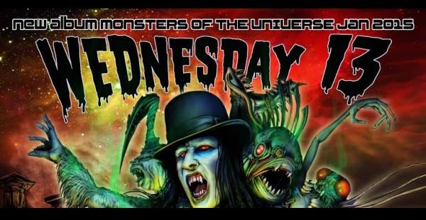 Wednesday 13 streams new track