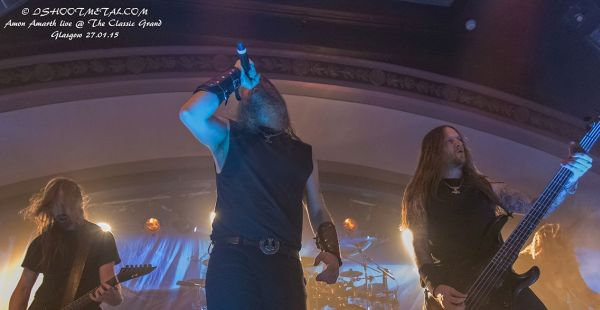 Amon Amarth / Huntress / Savage Messiah – Classic Grand, Glasgow (27th Jan 2015)