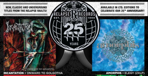 Relapse announces first round of 25th Anniversary vinyl reissues