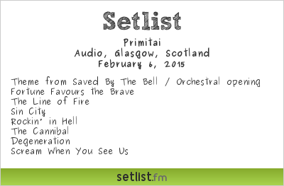 Primitai Setlist Audio, Glasgow, Scotland 2015