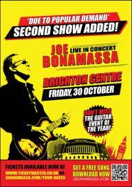 Joe Bonamassa extra Brighton date 2015