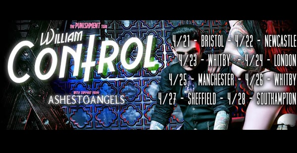 William Control joins Ashestoangels on April Tour