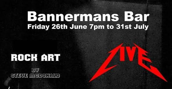 Rock art exhibition at Bannerman's, Edinburgh