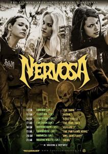 Nervosa UK Tour 2015