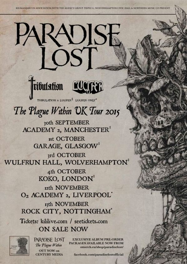 Paradise Lost Tour Support