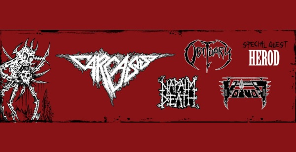 Deathcrusher (Carcass / Obituary / Napalm Death / Voivod / Herod) – Glasgow Barrowlands, 24th October 2015