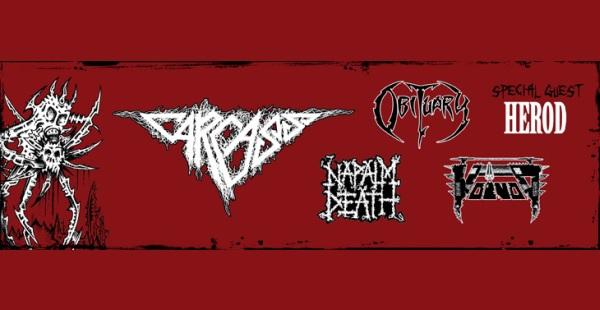 Deathcrusher (Carcass / Obituary / Napalm Death / Voivod / Herod) – Glasgow Barrowlands, 24th October 2015