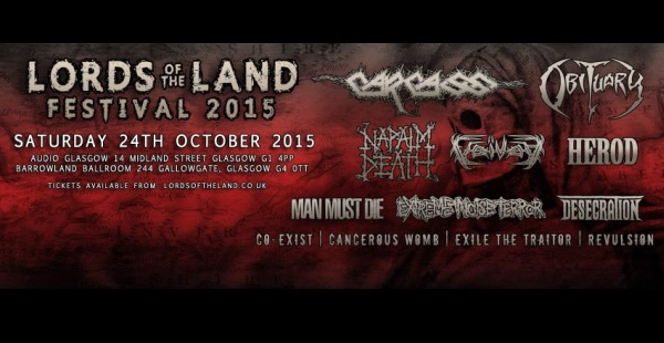 Lords of the Land (Deathcrusher Glasgow) stage times