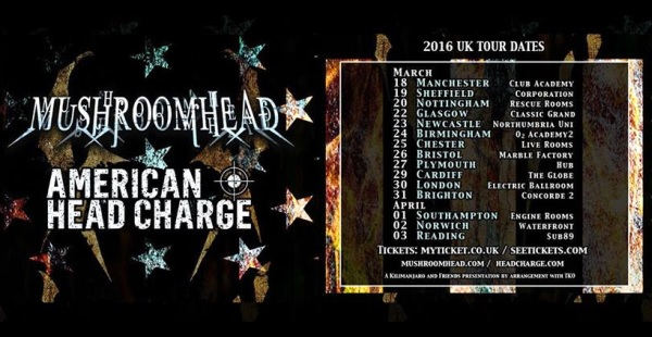 Mushroomhead / American Head Charge tour incoming!
