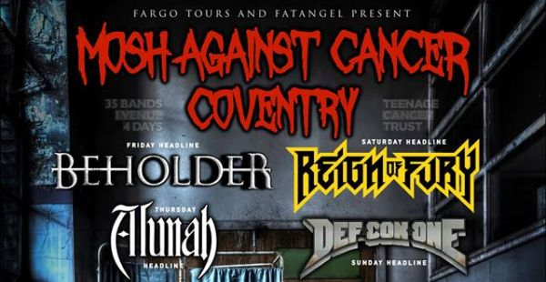 Mosh Against Cancer (Coventry) kicks off tonight – and you can pay on the door!