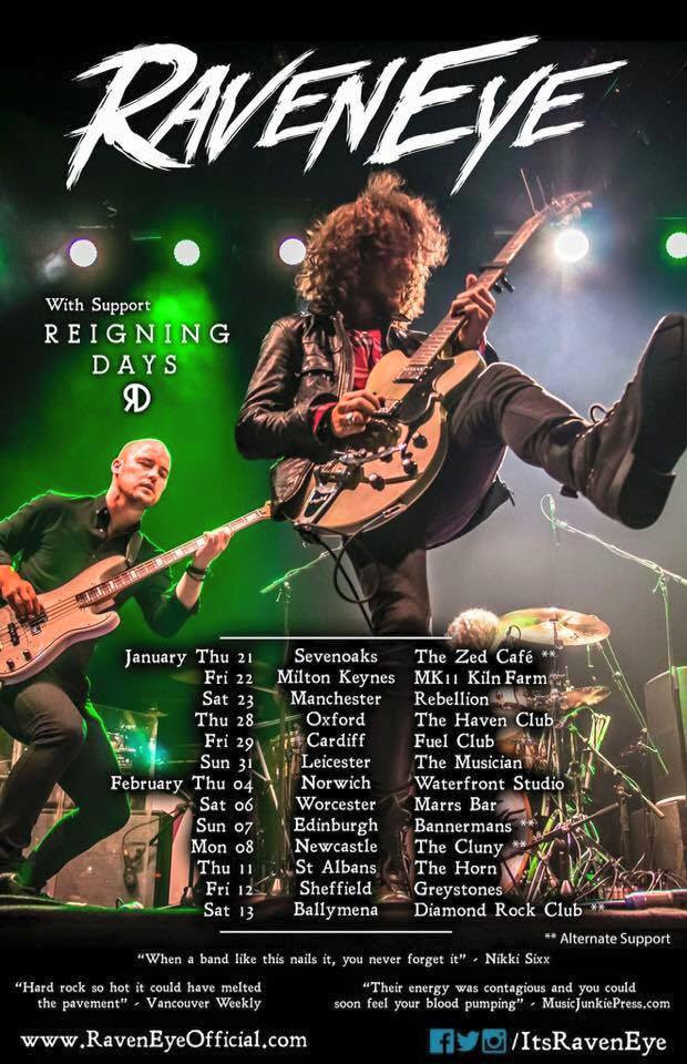 Raveneye jed potts and the hillman hunters crossfire for Soil uk tour 2016
