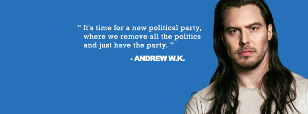 Andrew W.K. Just Launched a Political Party