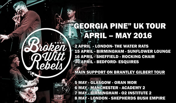 Broken Witt Rebels to tour the UK in April and May