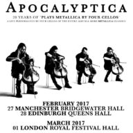 Apocalyptica uk 2017 poster