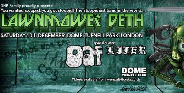 Lawnmower Deth announce annual Christmas shenanigans!
