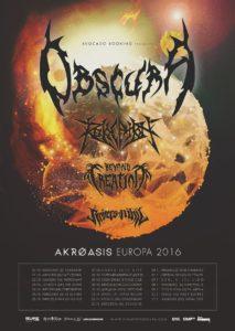 Obscura 2016 European Tour