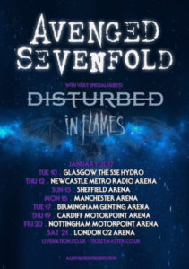 Avenged Sevenfold 2017 Tour