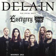 Delain Evergrey Kobra Lotus UK 2016