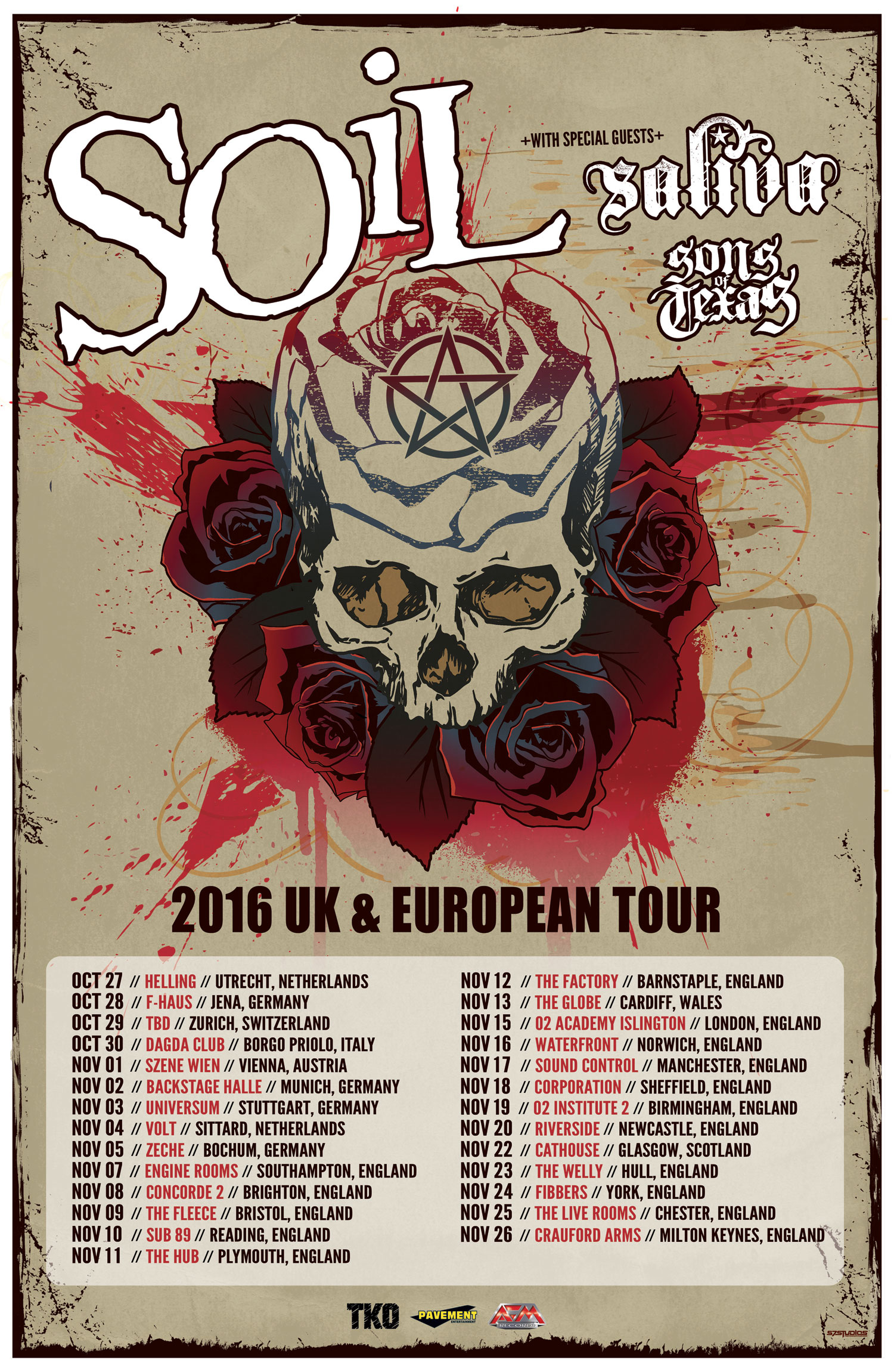 Soil announce october november 2016 uk and european tour for Soil band albums