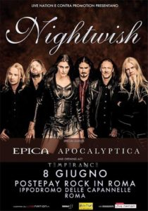 nightwish roma poster