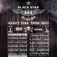 Black Star Riders Gun Backyard Babies The Amorettes 2017