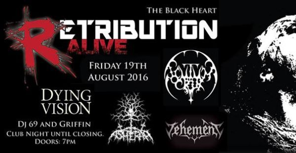 Retribution Alive at The Black Heart, Camden (August 18th 2016)
