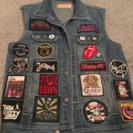 My own denim cut-off, complete with Bloodstock patch