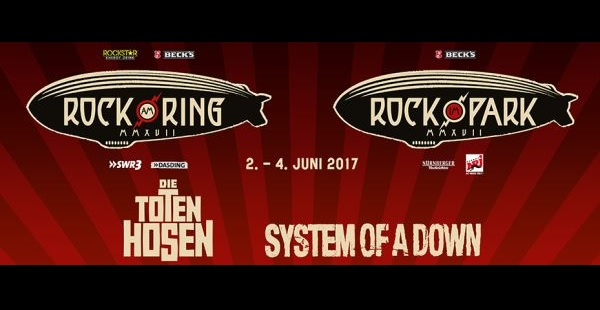 Rock am Ring / Rock Im Park announce headliners… System of a Down are back!