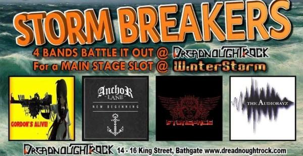 Storm Breakers: Anchor Lane / Stoneface / Gordon's Alive / The Audiorayz – Dreadnought Rock, Bathgate (18th August 2017)