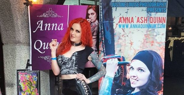 "Roaming around the London Tattoo convention when not sitting at her booth  is the multi-tasking Anna Quinn. All I said was ""Excuse me, Anna, ..."