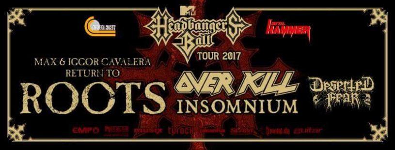MTV Headbangers Ball 2017: Max and Iggor Cavalera Return To Roots / Overkill / Insomnium / Deserted Fear – Kentish Town Forum, London (12th December 2017)