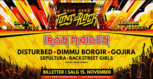 Iron Maiden announced as first headliner for Tons of Rock festival 2020