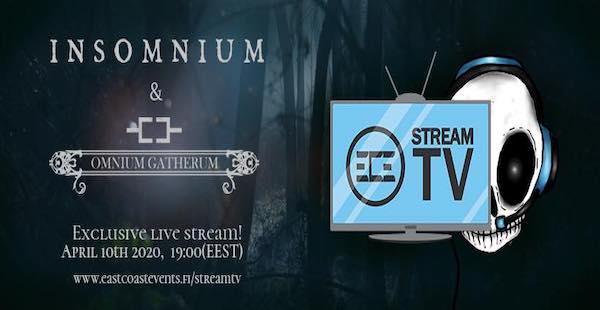Insomnium & Omnium Gatherum announce exclusive live stream concert