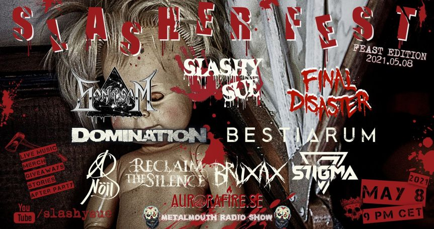 Slashy Sue announce free Slasher Fest Online!