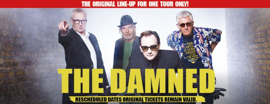 The Damned reschedule UK tour to Feb 2022 and announce supports